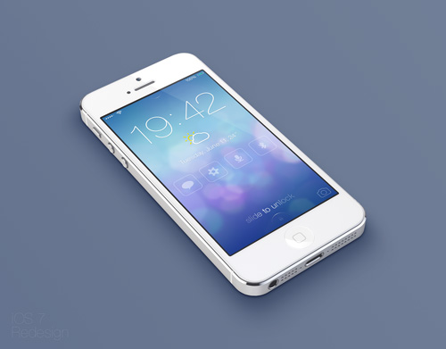 iOS7 Lock screen - Redesign Concept
