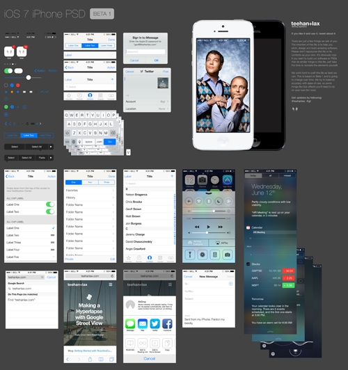 iOS 7 PSD Download