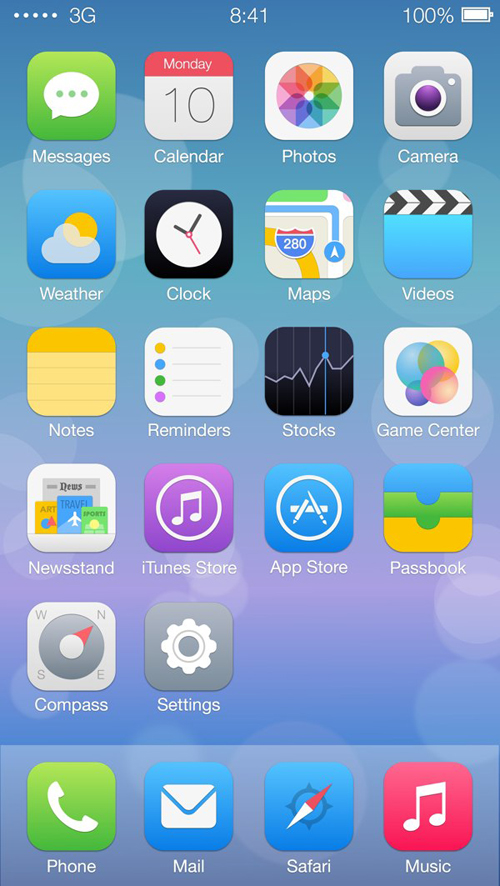 iOS 7 Vector Icon Redesign