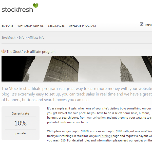 StockFresh Affiliate Program
