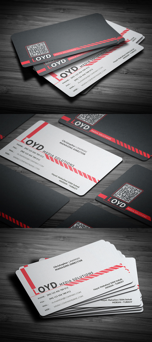 Black White Business Card