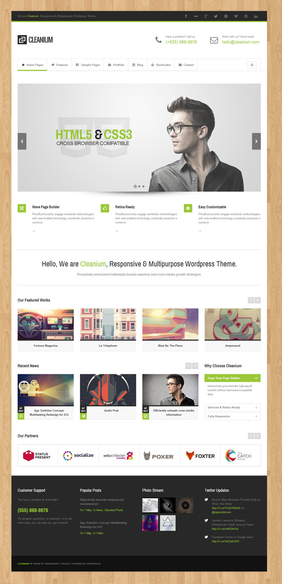 Cleanium - Responsive Multi-Purpose Retina Theme