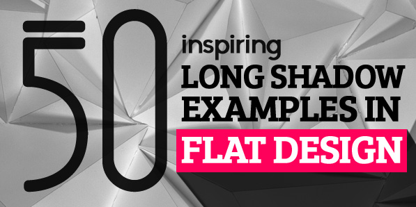 Long Shadow in Flat Design: 50 Beautiful Examples
