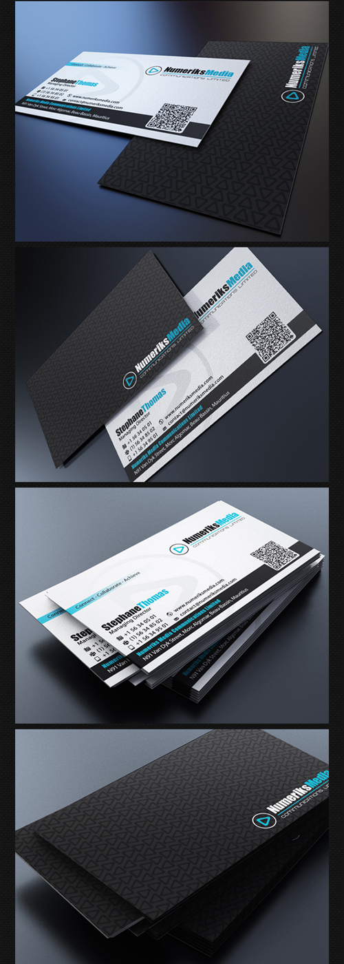 Modern Black Business Card