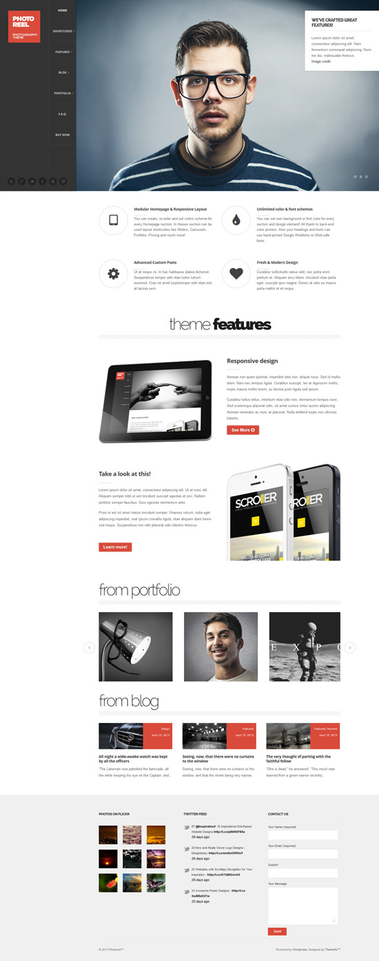 Photoreel - Elegant & Responsive Photography Theme