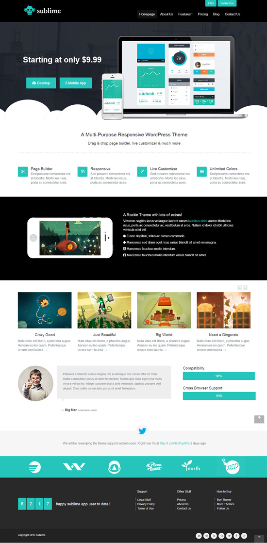 Sublime - Responsive WordPress Theme