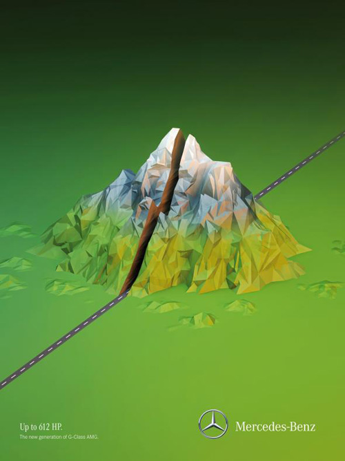 Mercedes-Benz: Mountain Advertising Poster-17