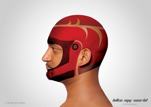 Bike My World safe driving program: Helmet Advertising Poster-8