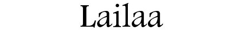 Lailaa Font