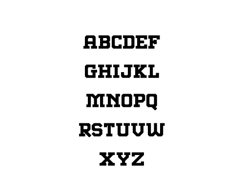 Abstract Slab Free Font Typography / Lettering