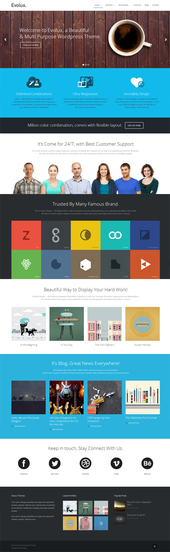Evolux - Responsive Multi-Purpose WordPress Theme