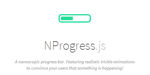 NProgress.js: Slim Nanoscopic Progress Bar