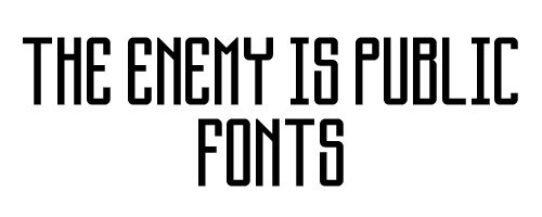 The Enemy Is Public Free Font