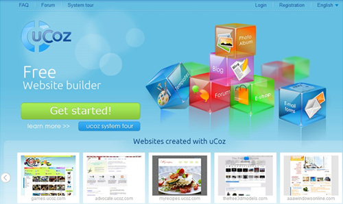 Ucoz build perfect website