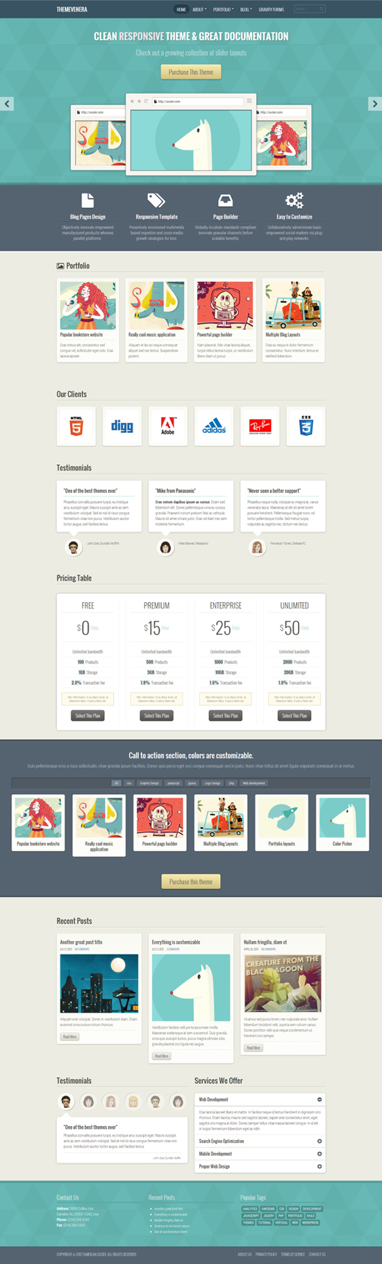 Venera - Responsive Multi-Purpose Theme