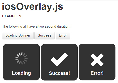 iosOverlay.js: Beautiful Overlays/Notifications For Web