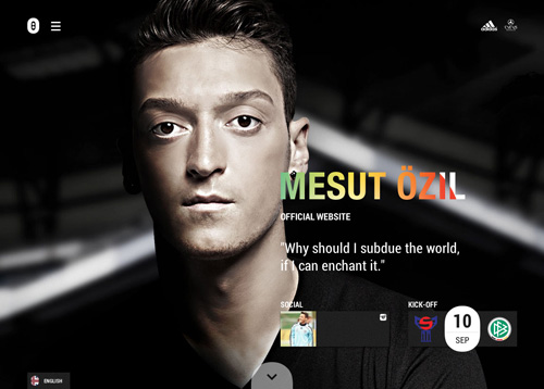 Mesut Özil One Page Website Design