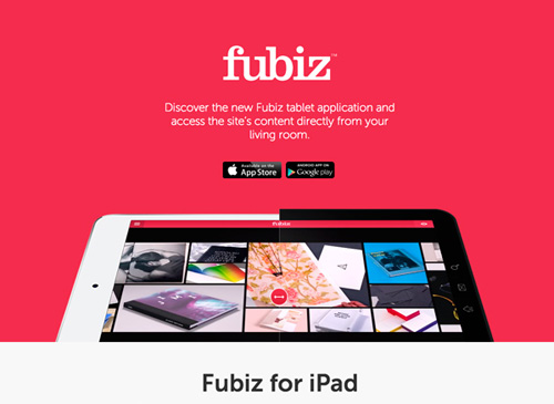 Fubiz for iPad & Android tablet One Page Website Design