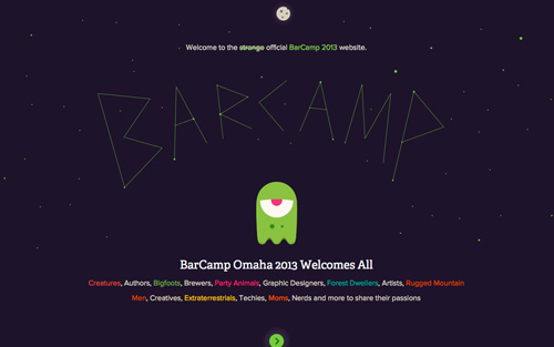 BarCamp 2013 One Page Website Design