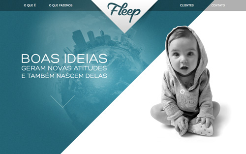 Fleep One Page Website Design