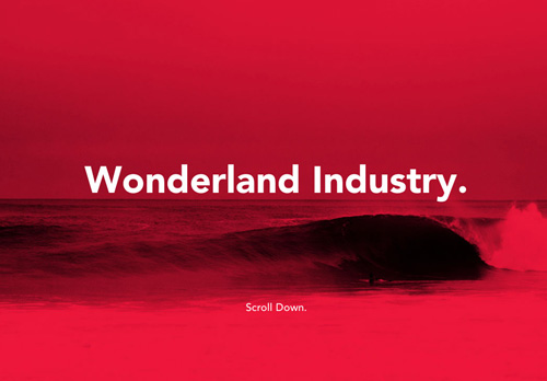 Wonderland Industry One Page Website Design