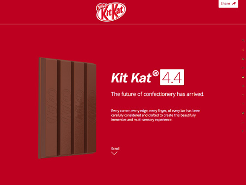 KITKAT One Page Website Design