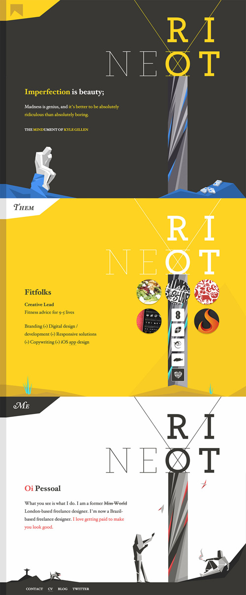 Next Riot One Page Website Design