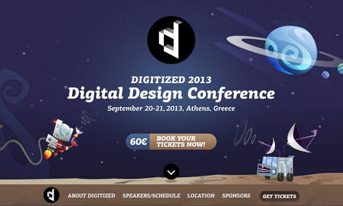 Digitized 2013 One Page Website Design