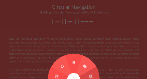 Building a Circular Navigation with CSS Transforms