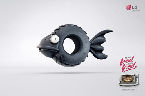 LG: Fish Print Advertising