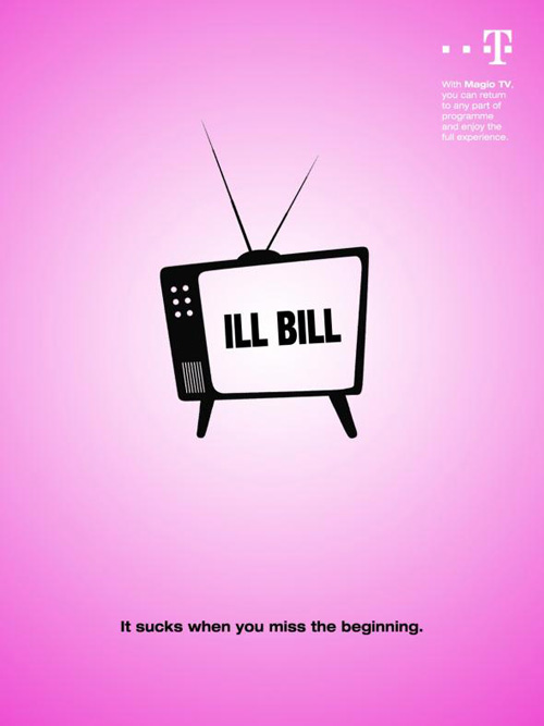 T-Mobile: Ill Bill Print Advertising