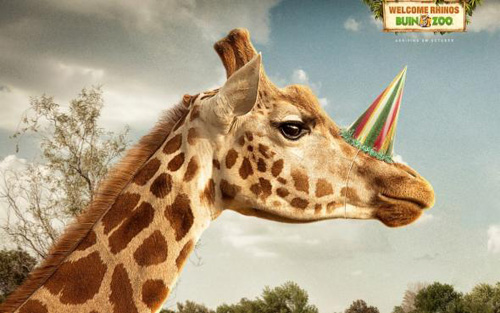 Buin Zoo: Giraffe Print Advertising