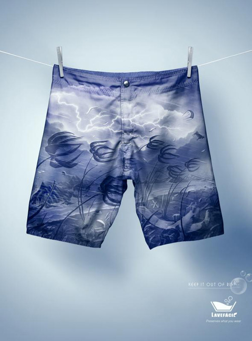 LaveFácil: Shorts Print Advertising