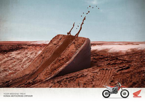 Honda Motorbikes: The Treat Print Advertising