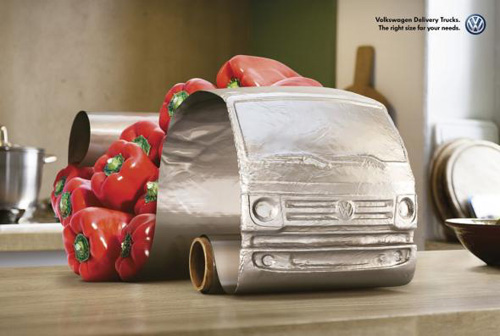 Volkswagen Delivery Trucks: Peppers Print Advertising