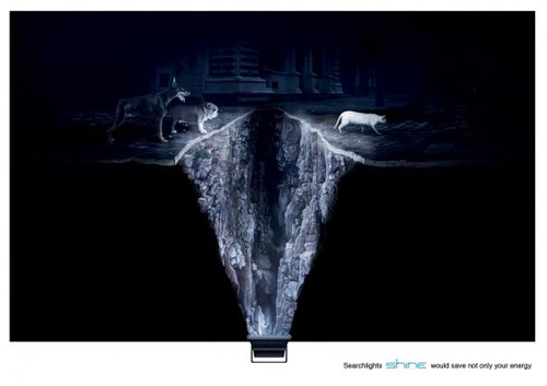 Shine Searchlights: Cat Print Advertising