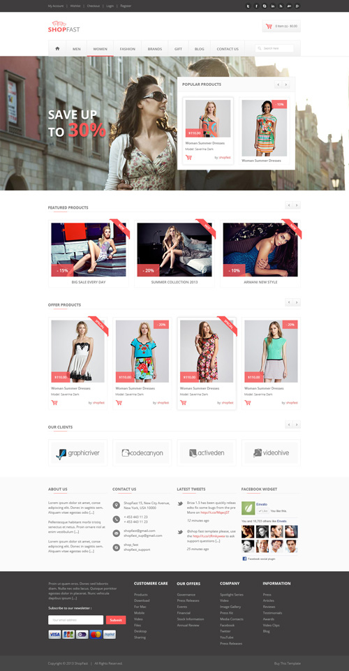 ShopFast - Magento Theme