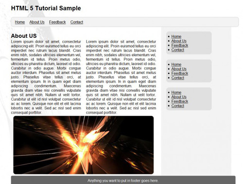 Simple Website Layout Tutorial Using HTML 5 and CSS 3