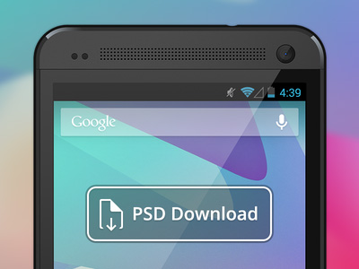 Vector HTC One Free PSD File