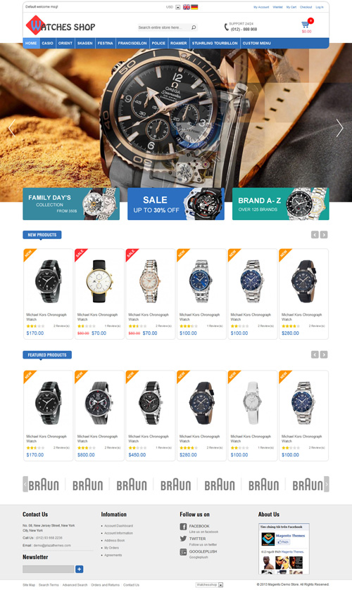 Watches Shop Responsive Magento Theme