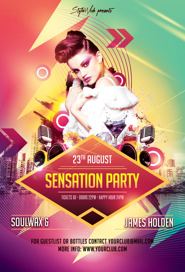 Modern Party Flyers Templates | Design | Graphic Design Junction