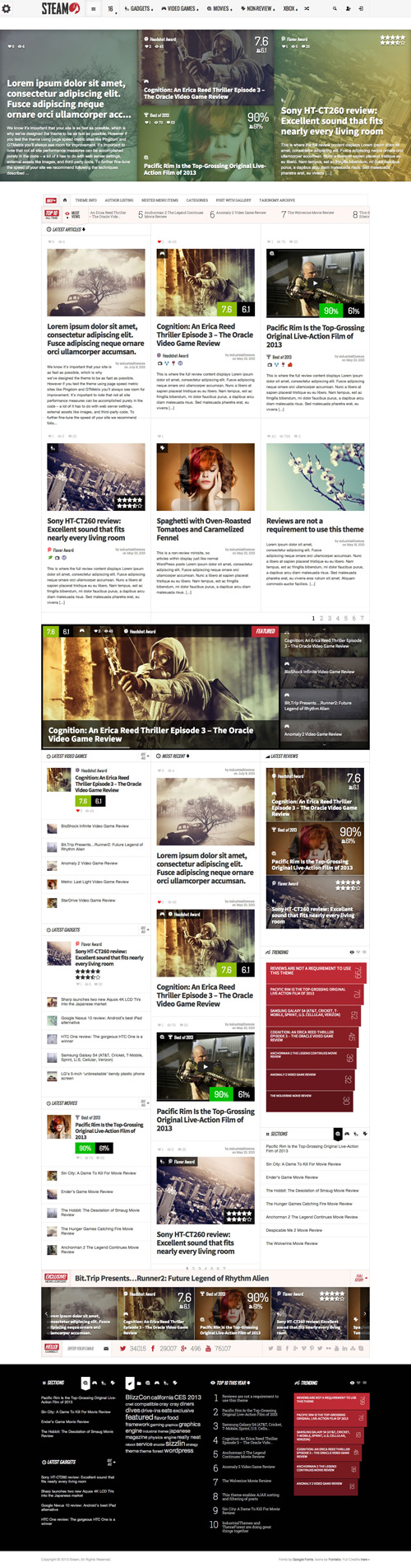 Steam - Responsive Magazine WordPress Theme