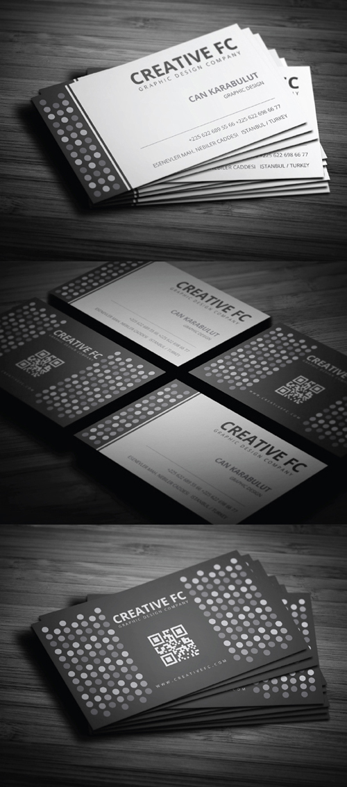 Blank & White Business Card