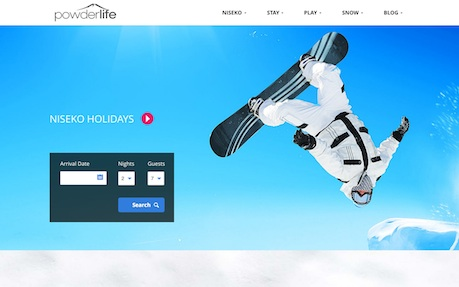 Responsive Website Design Powderlife