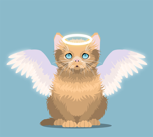 Create an Innocent Fluffy Kitten With Basic Shapes in Adobe Illustrator