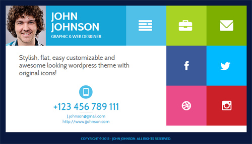 resume business cards black white and blue corner resume cards flatcv resume portfolio html5 html5