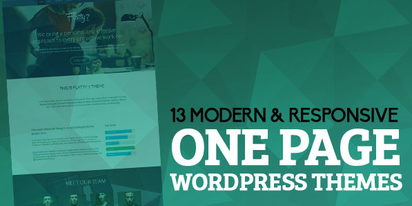 13 Modern & Responsive One Page WordPress Themes