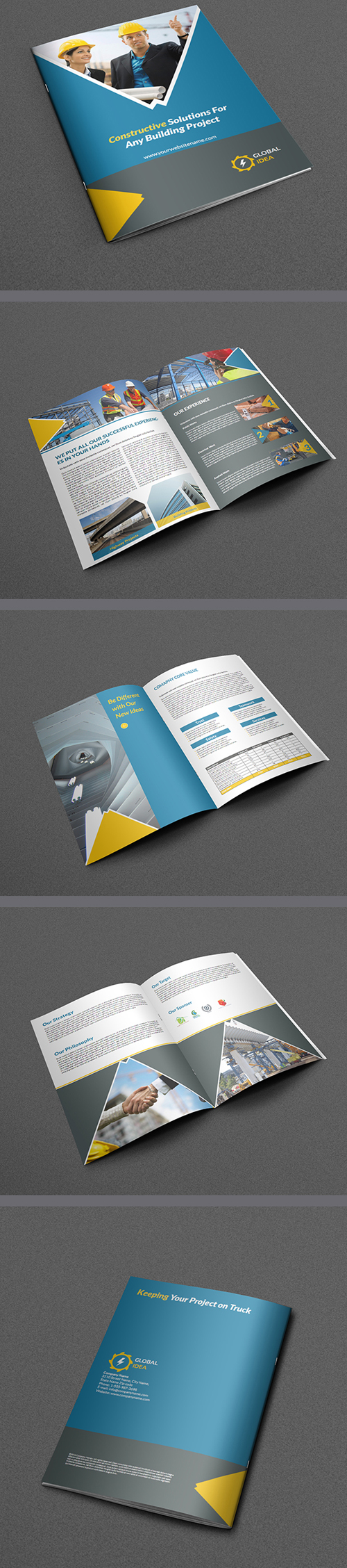 Construction Business Brochure Template