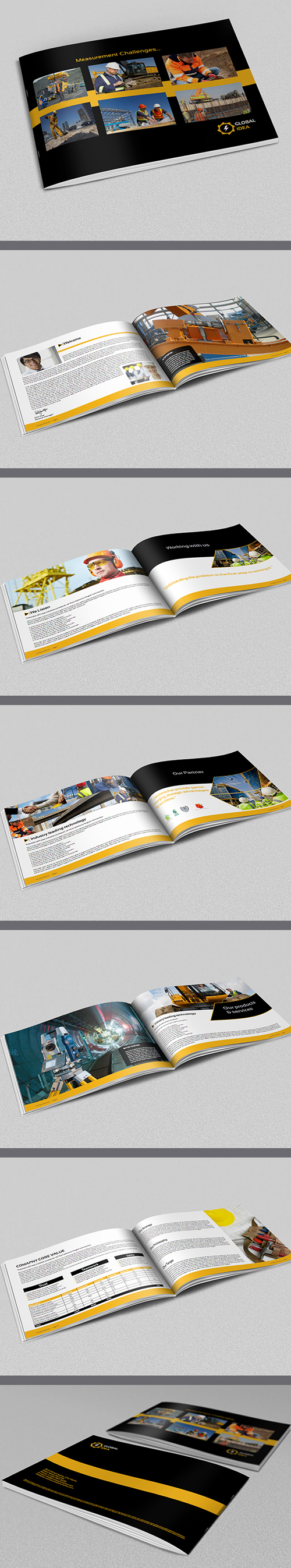 Construction Industry Brochure Template