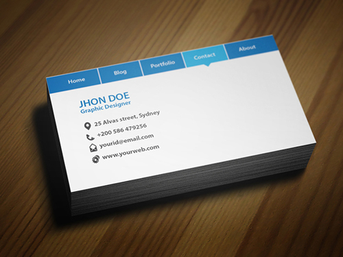 Navigation Bar Business Card Template